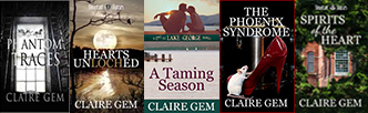 Novels by Claire Gems for the interview with welovequalitybooks.biz